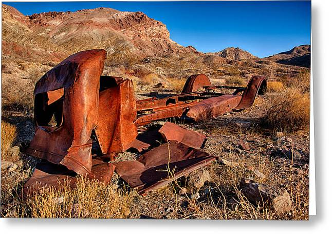Death Valley Truck Greeting Card by Peter Tellone