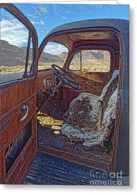 Death Valley Truck Greeting Card