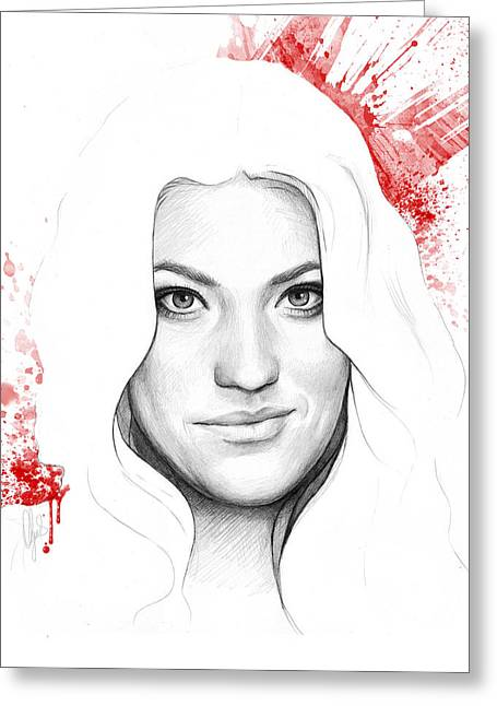Debra Morgan Portrait - Dexter Greeting Card by Olga Shvartsur