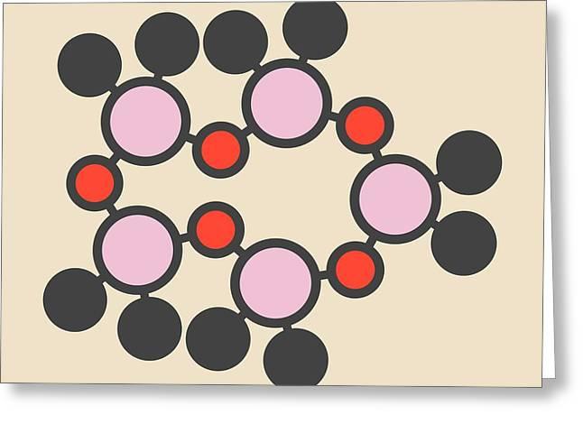 Decamethylcyclopentasiloxane Molecule Greeting Card
