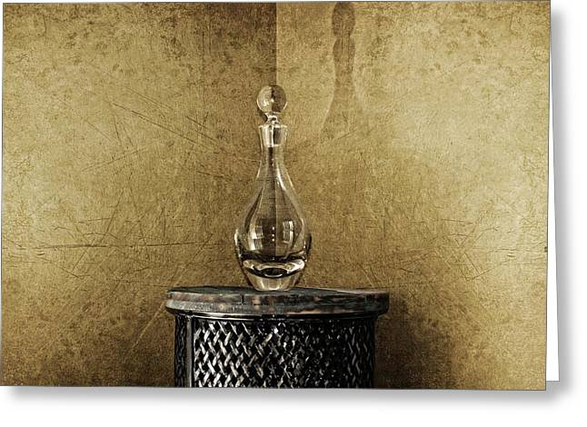 Decanter Greeting Card
