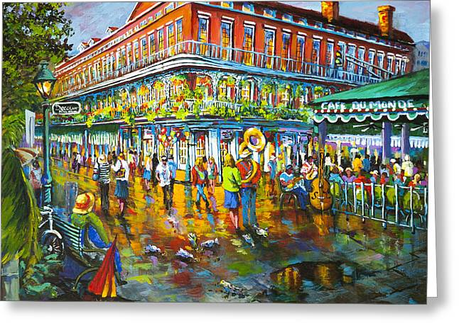 Decatur Evening Greeting Card by Dianne Parks