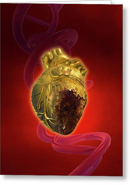 Decaying Heart Greeting Card