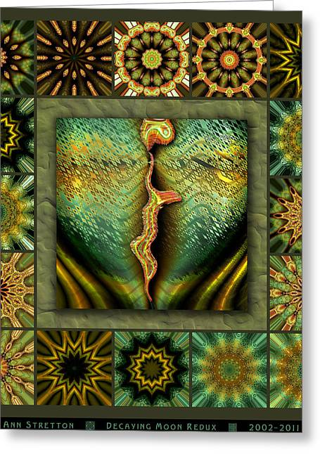Decaying Moon Redux Greeting Card