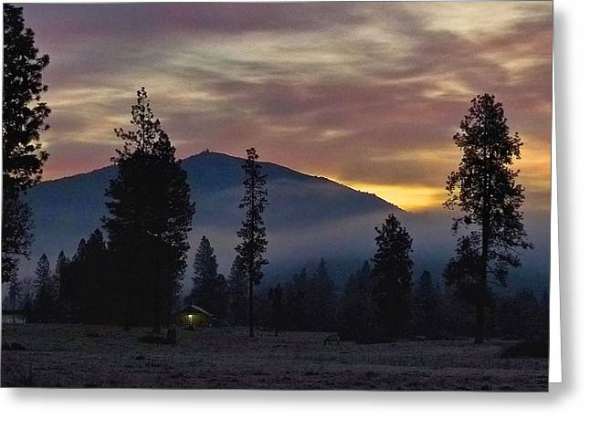 Greeting Card featuring the photograph December Dawn by Julia Hassett