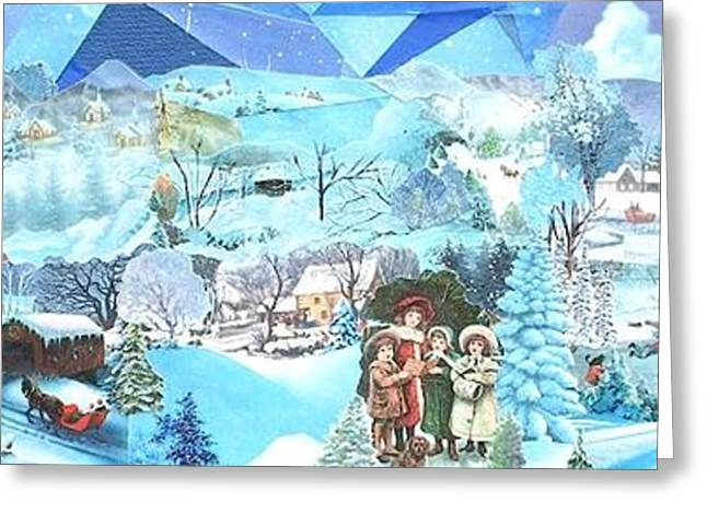 December Evening Landscape - Sold Greeting Card by Judith Espinoza