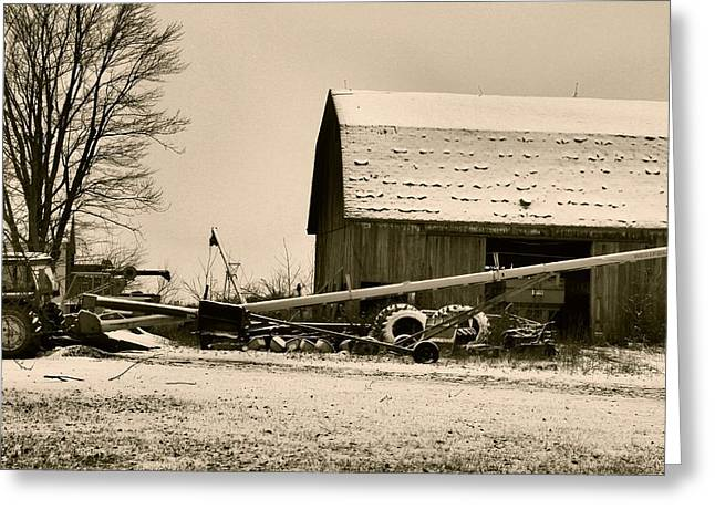 December In The Country Greeting Card by Dan Sproul