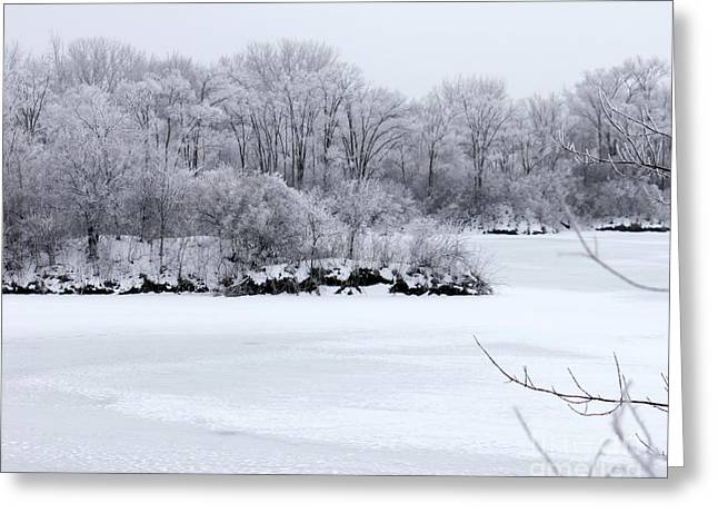 December Lake Greeting Card