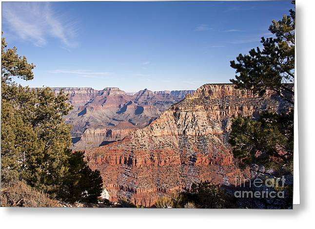 December Light In The Grand Canyon Greeting Card by Lee Craig