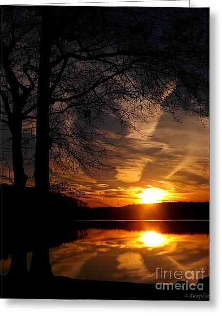 December Sunset Greeting Card by Christy Ricafrente