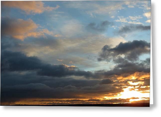 December Sunset Greeting Card by Susan Desmore