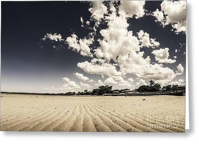 Deception Bay Beach Landscape Greeting Card by Jorgo Photography - Wall Art Gallery