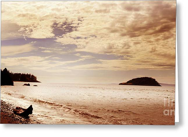 Greeting Card featuring the photograph Deception Bay Washington by Artist and Photographer Laura Wrede