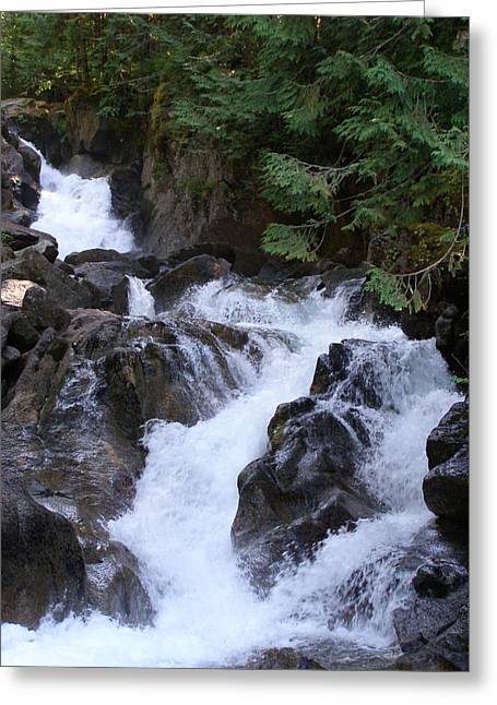 Deception Falls Upper Greeting Card by Jeff Taylor