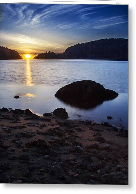 Deception Pass 3 Greeting Card by Sonya Lang