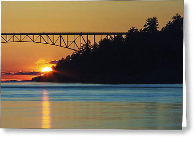Deception Pass Bridge Sunset Greeting Card