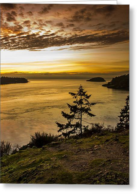 Deception Pass Greeting Card by Calazone's Flics