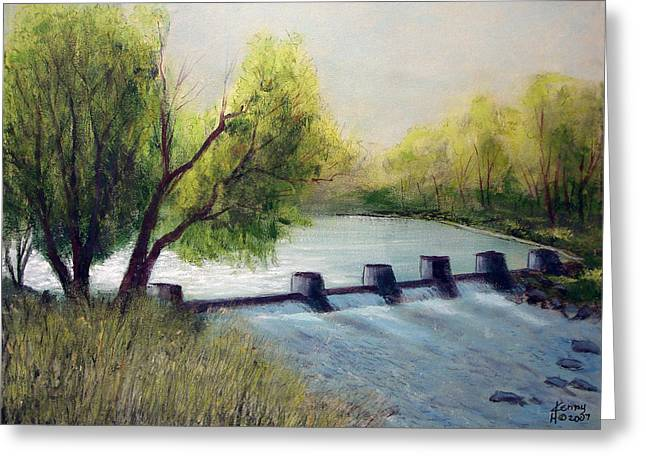 Dechutes River Greeting Card by Kenny Henson