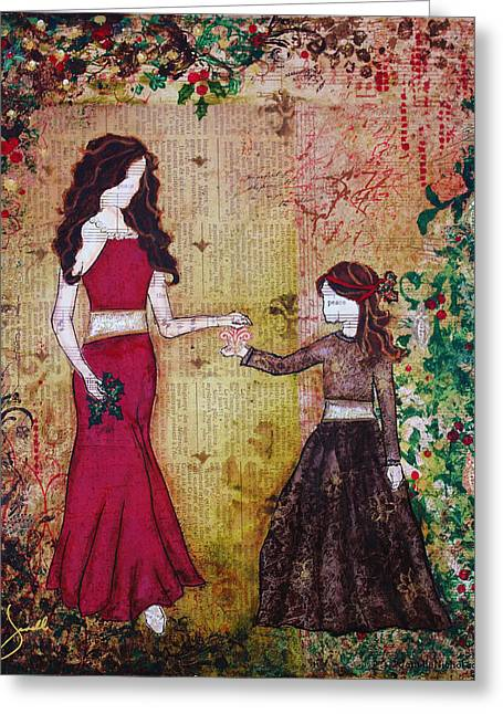 Deck The Halls- A Christmas Art Print By Janelle Nichol Greeting Card by Janelle Nichol