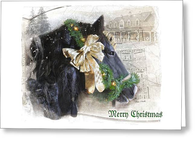 Deck The Stalls... Greeting Card by Fran J Scott
