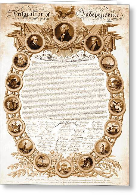 Declaration Of Independence 1818 Greeting Card