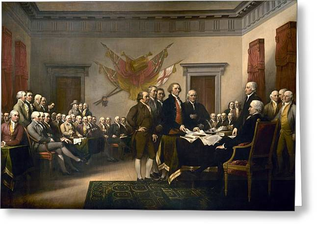 Declaration Of Independence Greeting Card by John Trumbull