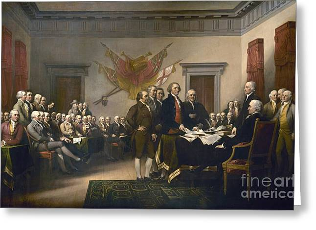 Declaration Of Independence Greeting Card by Pg Reproductions