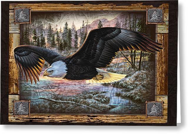 Deco Eagle Greeting Card