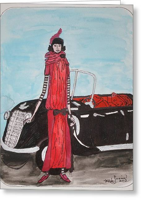 Deco Mama W/convertible Greeting Card by Mary Kay De Jesus