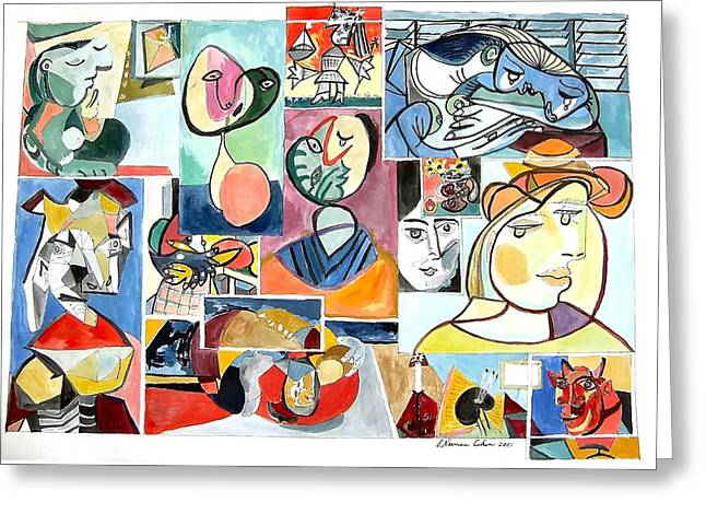 Deconstructing Picasso - Women Sad And Betrayed Greeting Card