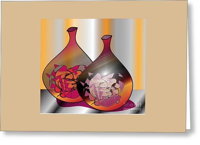 Greeting Card featuring the digital art Decor by Iris Gelbart