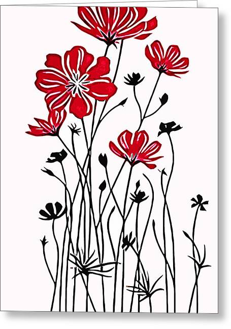 Decoracion De Flores Greeting Card