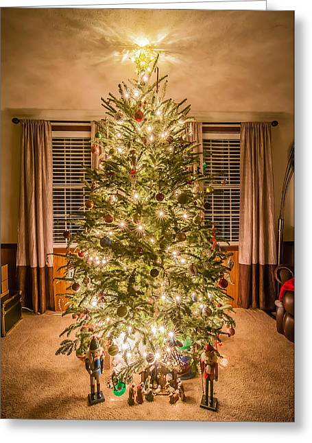 Greeting Card featuring the photograph Decorated Christmas Tree by Alex Grichenko
