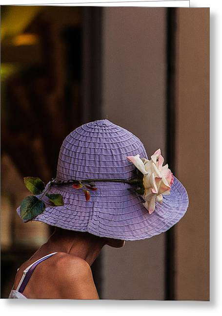 Decorated Hat Greeting Card by Celso Bressan