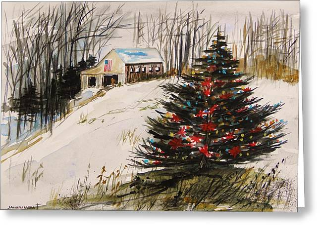 Decorated In The Snow Greeting Card by John Williams