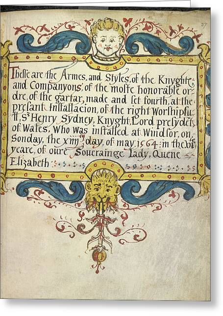 Decorated Title Page Greeting Card by British Library