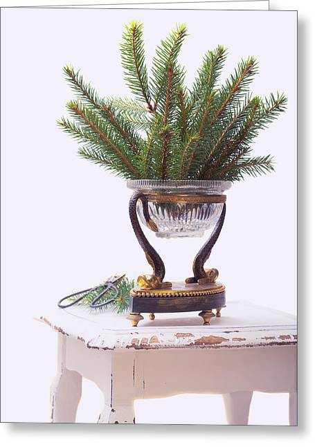 Decorating For Christmas Greeting Card by Amanda Elwell