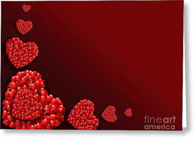 Decoration Of Heart Shaped Hearts Greeting Card by Kiril Stanchev