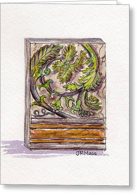 Greeting Card featuring the painting Decorative Accent by Julie Maas