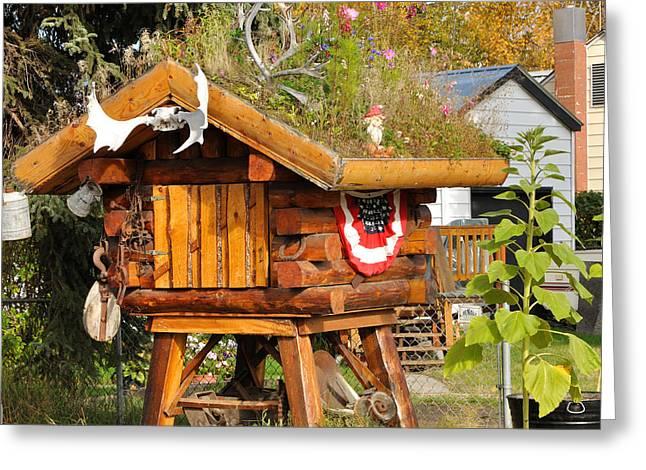 Decorative Alaska Food Cache - Fairbanks Greeting Card