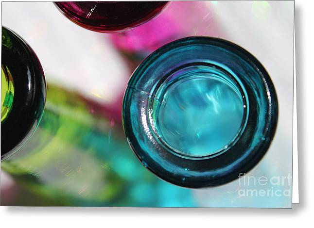 Decorative Bottles II Greeting Card by Krissy Katsimbras
