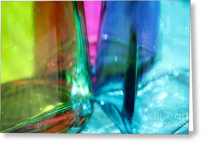 Decorative Bottles IIi Greeting Card by Krissy Katsimbras