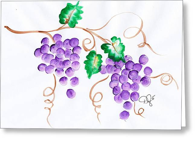 Decorative Grapes Greeting Card by Dale Jackson