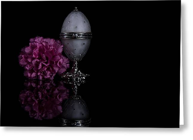 Decorative Jewel Egg Greeting Card by Eje Gustafsson