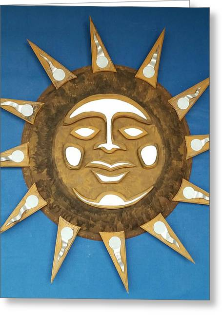 Decorative Sun Greeting Card