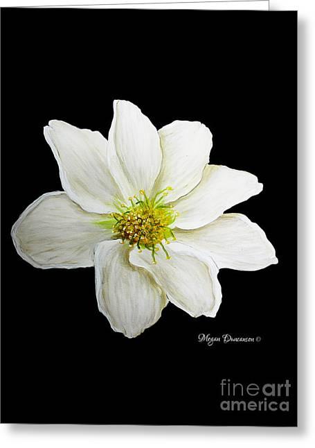 Decorative White Floral Flower Art Original Chic Painting Madart Studios Greeting Card by Megan Duncanson