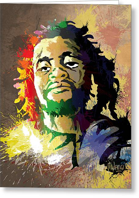 Dedan Kimathi - Freedom Fighter Greeting Card by Anthony Mwangi