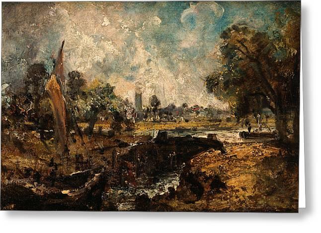 Dedham Lock, John Constable, 1776-1837 Greeting Card