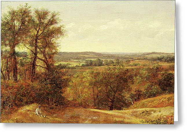 Dedham Vale, John Constable, 1776-1837 Greeting Card by Litz Collection