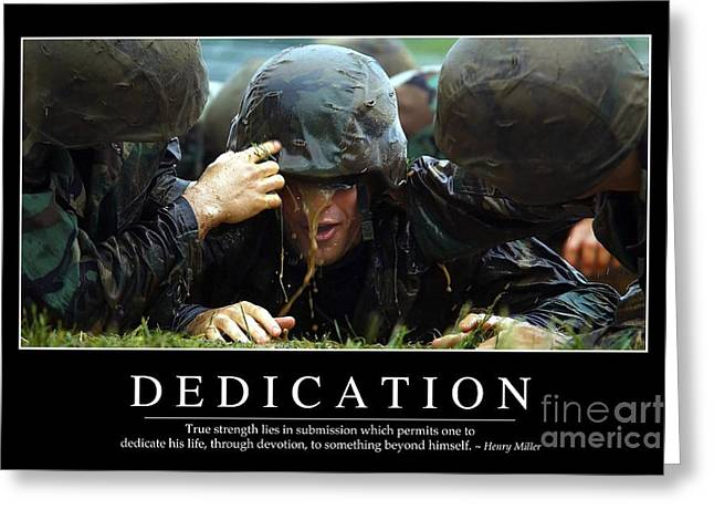 Dedication Inspirational Quote Greeting Card by Stocktrek Images